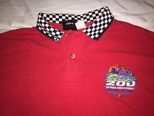 Walt Disney Sports Polo Shirt_Indy 200_Nascar_1998_Checkered_Large