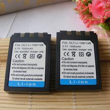 2X Battery For Olympus LI-10B LI-12B  STYLUS 300 400 500 C-50 C60 410 X-500
