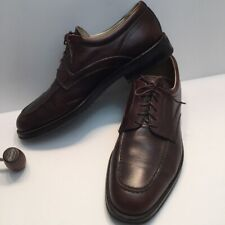 E.T. Wright Men's Italian Leather Oxfords Brown Brouges dress shoes 10 1/2