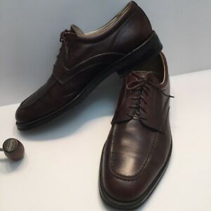 E.T. Wright Men's Italian Leather Oxfords Brown Brogue dress shoes 10 1/2