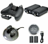 2x Rechargeable Battery + Charging Charge Dock Station for XBOX ONE Controller