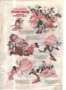 1942 Disney - Mickey Mouse Birthday Party from Good Housekeeping