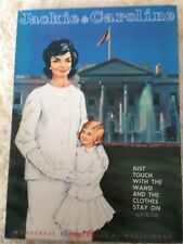 NEW in Box Complete Vintage Jackie Caroline Kennedy Paper Dolls Magic Wand 60's