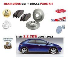 Per HONDA CIVIC 2.2 TD il CDTI 2006-2012 Nuovo Freno Posteriore Set Dischi e pastiglie Disc Kit