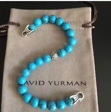 David Yurman Spiritual Turquoise With Silver Wave Bead Bracelet