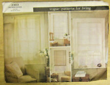 Vogue Patterns for Living 2303 Pattern Window Shades