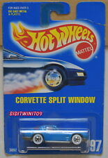 HOT WHEELS 1991 BLUE CARD  CORVETTE SPLIT WINDOW #197 MIB