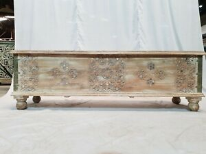 MADE TO ORDER Solid Wooden Mirror Rustic Treasure Chest Storage Blanket Box