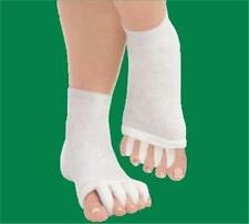 New Comfy Toes Foot Alignment Socks (Small/Medium) White