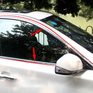 20mm Car Accessories Styling Chrome Trim Cover Door Window Body Decorative Strip
