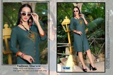 Indian Designer Rayon Party Wear Short Top/Tunic/Kurtis/Kurta