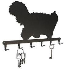 Schlüsselbrett Perser-Katze - Schlüsselboard Katze, Metall schwarz Hakenleiste