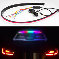 90CM 12V 7 Colors LED Rear Brake DRL Turn Signal Light Strip Driving Waterproof