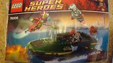 Lego Super Heroes Iron Man Extremis Mar Puerto batalla 76006 Sin Minifiguras