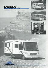 Preisliste Vario Mobil Star Sommer 2002 Preise Reisemobil Wohnmobil Motorhome