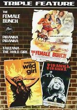 THE FEMALE BUNCH/PIRANHA/TARZANA Code Red DVD Charles Manson Family SPAHN RANCH