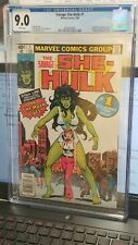 (R26) The Savage She Hulk #1 -CGC 9.0  White pages - NEWSTAND COPY  Marvel MCU