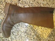 NEW MIA CIERRA HIGH TALL RIDING BOOTS WOMENS 8.5 CHESTNUT  KNEE HIGH ZIP SIDE