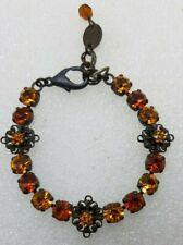 israel negrine motif Bracelet signed M # R Ravid SWAROVSKI Crystals