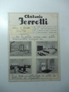 Antonio Ferretti. Fabbrica di mobili per ogni uso ed ogni stile... Catalogo 1939