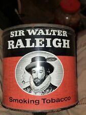 Vintage  SIR WALTER RALEIGH Smoking Tobacco Tin  14oz no lid