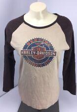 HARLEY DAVIDSON Bling Baseball Shirt-STOCK'S Harley Davidson Manitowoc,WI Large