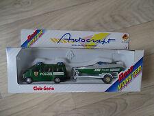 Bauer 52166 Road Monster Diecast Metal Autocraft Club Serie Polizei, Anhänger +