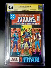 TALES OF TEEN TITANS #44 1ST NIGHTWING CGC SS 9.6 SIGNED PEREZ & WOLFMAN WHITE
