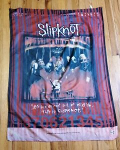 Vintage 1999 Slipknot Polyester Fabric Flag Poster Banner Italy Metal Band Rare