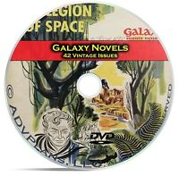 Galaxy Novels, 42 Classic Pulp Magazine, Science Fiction Books DVD CD C57