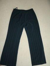 LADIES SIZE 14 NAVY BLUE PIN STRIPED DRESS PANTS - JONES NEW YORK - USED