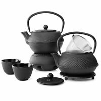 Iron Tea Pot with Stainless Steel Infuser Cast Iron Kettle for Boiling Water New