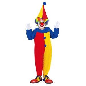 Kinder Clown Kostüm und Hut / Karneval Fasching Jungen Mädchen Zirkus Harlekin
