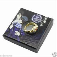 Black Butler Kuroshitsuji Alois Trancy's  Cosplay Gold Ring New in Box