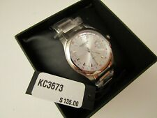 "Kenneth Cole Reaction KC3673 Men""s Dual Dial Stainless Steel Watch"