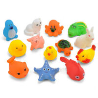 13Pcs Cute Baby Toy Bath Toys Squirt Kids Float Water Tub Rubber Bathroom Play