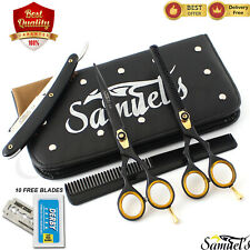 "Professional Barber Hairdressing Scissors & Thinning 6.5"" Set - JAPANESE STEEL"