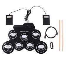 Tragbares USB Roll Up E-Drum Pad Kit, Elektronische Trommel mit Drumsticks