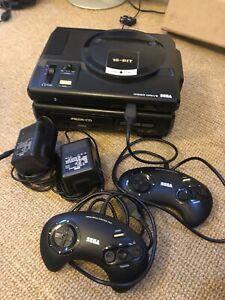 Sega Mega CD MK 1  With Mega Drive Console All Leads And Power Supplies