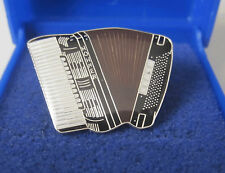 Accordion Pin Badge Brooch Lapel Black Hohner Scandalli Paolo Fantini GIFT BOXED