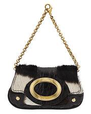 Dolce & Gabbana Mini Pochette Wallet Pony Hair Leather Alligator  Bag $1758.00