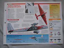 Aircraft of the World Card 32 , Group 1 - Tupolev ANT-20 'Maxim Gorky'