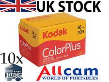 Confezione da 10: KODAK COLORPLUS 200 35mm 36 esposizioni colore Pellicola negativa, nuovi