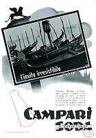 CAMPARI SODA -VENEZIA-.gondola-leone-San Marco-1937.