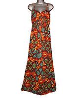 Plus size sleeveless aztec print maxi dress