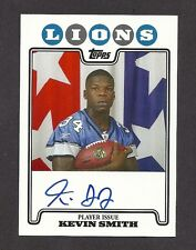 2008 TOPPS ROOKIE PREMIERE KEVIN SMITH AUTOGRAPH ROOKIE FOOTBALL CARD