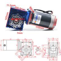 300W DC12V/24V Worm Gear Reducer Gearbox Electric NMRV Gear Motor 5D300GD-RV40