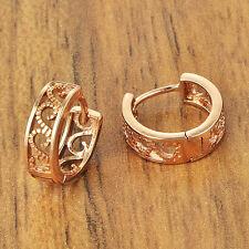 Infant baby girls Flower hoop earrings crystal 14K Gold filled cheap earings