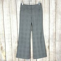 The Limited Women's Size 0 Cassidy Fit Dress Pant Grey Check Plaid St Wide Leg
