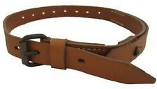 German Army BROWN LEATHER ZELTBAHN / EQUIPMENT STRAP with BUCKLE - WW2 Repro
